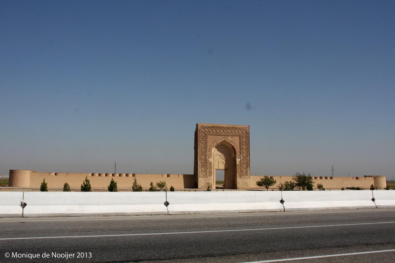 A caravanserai on the road to the Kyzylkum desert.