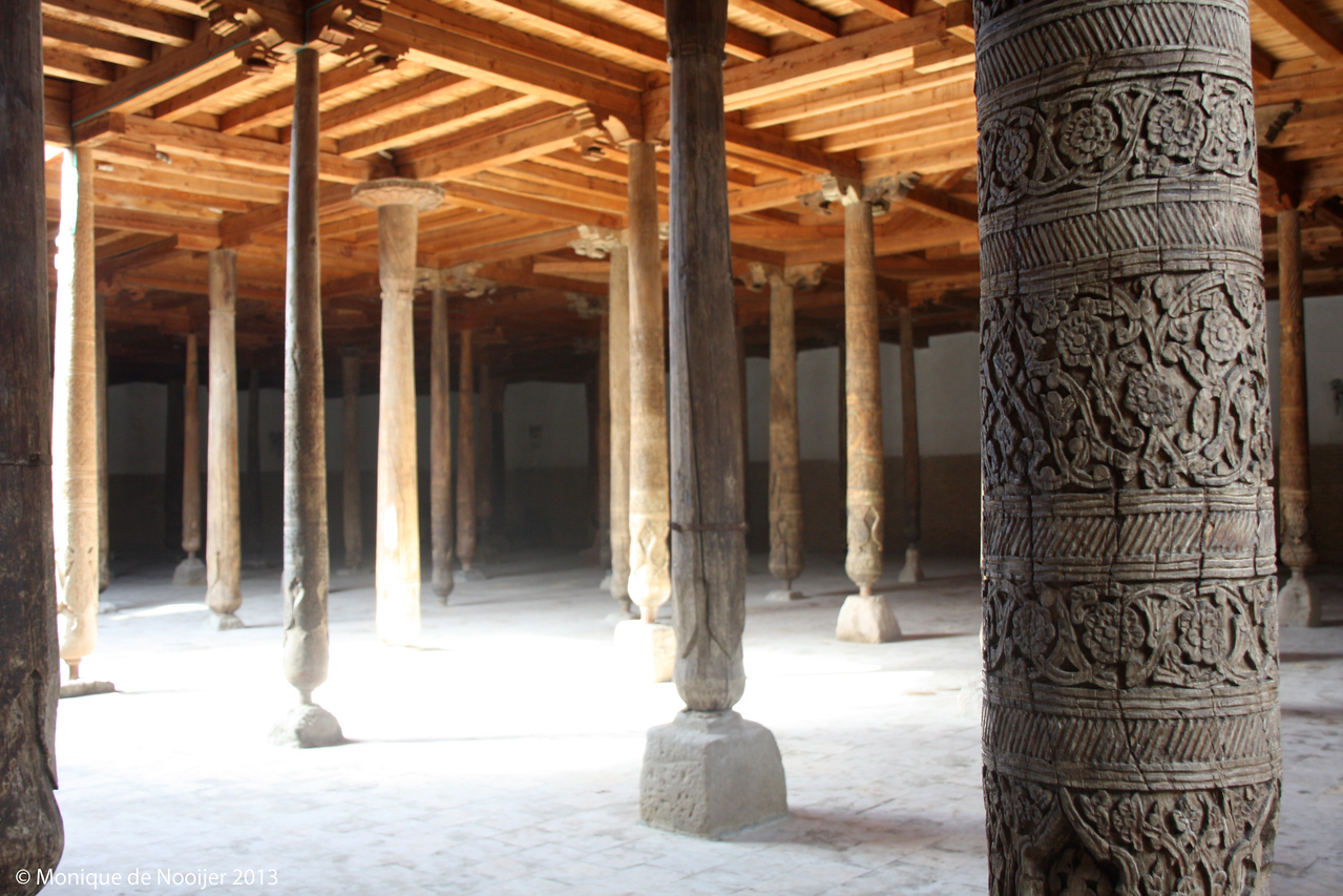 Open courtyard of the Juma Mosque in Khiva.