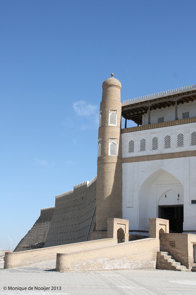 Ark Fortress on Registan square in Bukhara