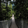 Hanging bridge over the Crazy falls- BC