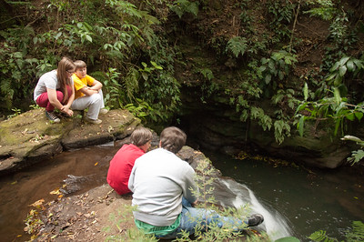 On arrival, Benjamin took us to visit a local waterfall.