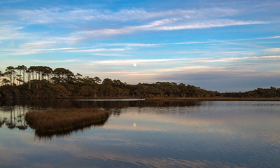 Moonrise over lagoon - Kiawah Island, SC.