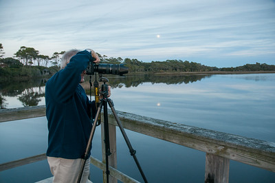 Moonrise while my dad photographs egrets - Kiawah Island, SC.