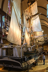 New Bedford Whaling Museum - the Lagoda, a half-size model of a historic whaling ship.