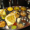 Indian Thali, the most interesting vegetarian meal ever, for a non-vegetarian. Spicy, sweet, strange, good, filling, everything at once.
