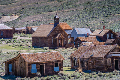 The town of Bodie from cemetery hill.