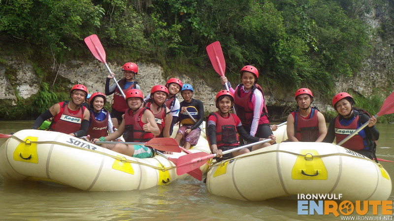 TravelMindanao class picture at Cagayan River White Water Rafting