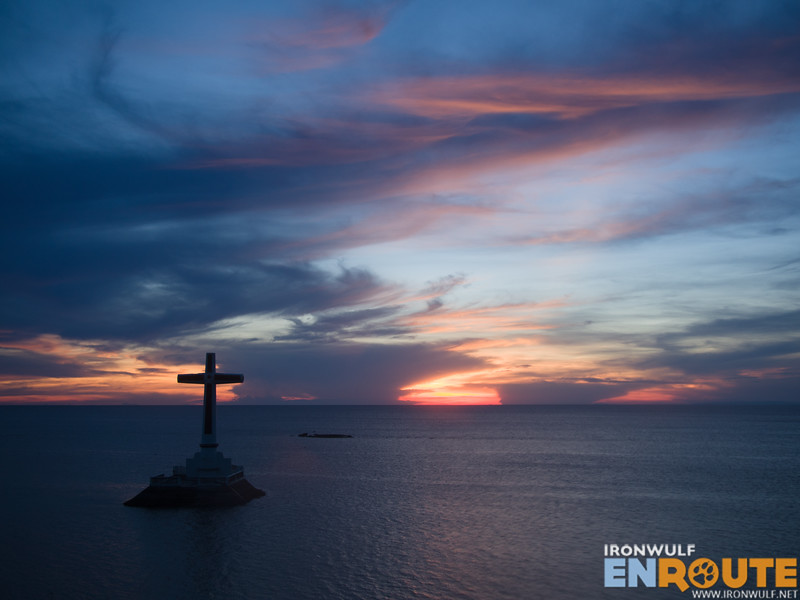 The sunset that afternoon at the Sunken Cemetery