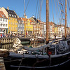 More boats moored in the Nyhavn canal.