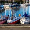 Boats in the marina near The Little Mermaid