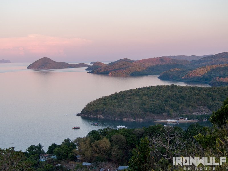 View of the nearby islands of Culion