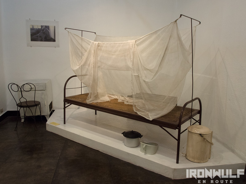 Display of a patient's sick bed