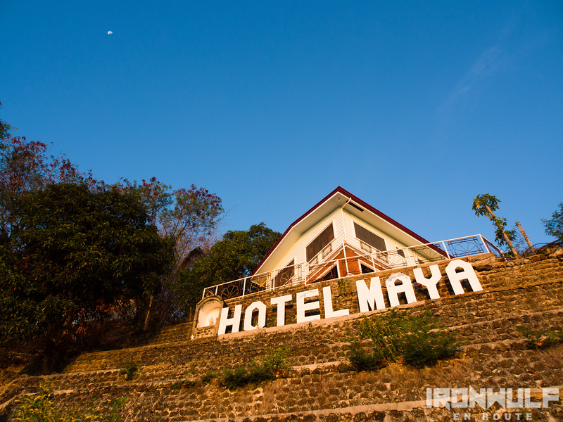 The widely visible signage of Hotel Maya