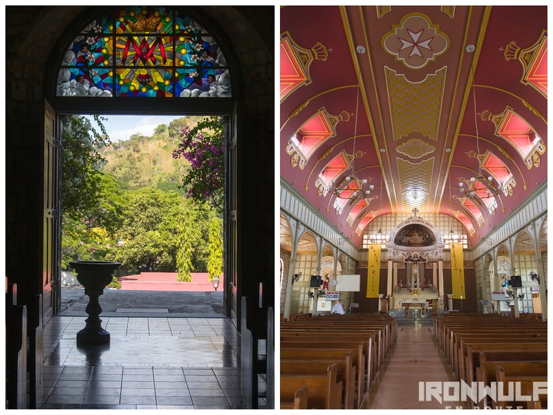 Main entrance and church interior