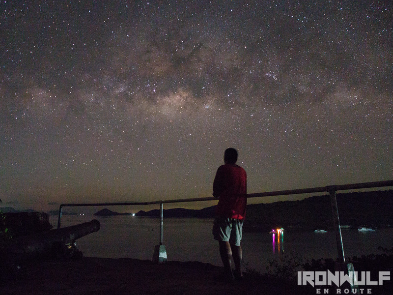 The author gazing at the stars in Culion Island