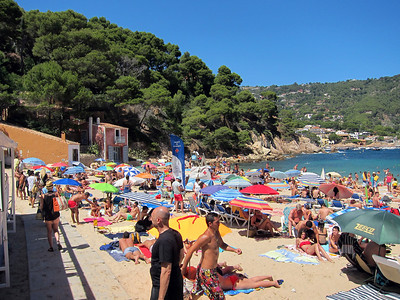 Aiguablava beach near Begur, Spain.