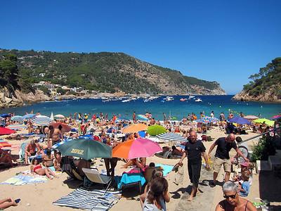 Aiguablava beach near Begur, Spain.