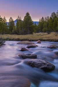 Early light of dawn on Tioga Pass