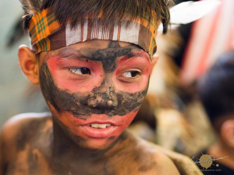 A young Ati-atihan performer