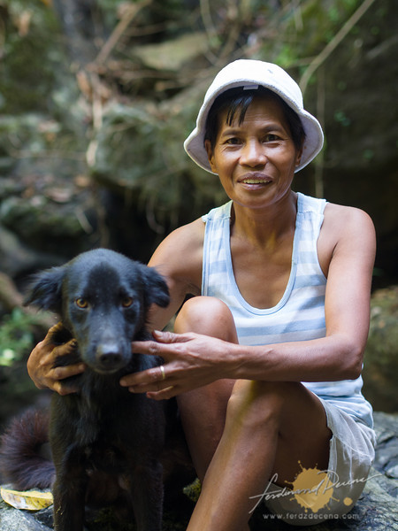 Our guides, Ate Cynthia and Spike the dog