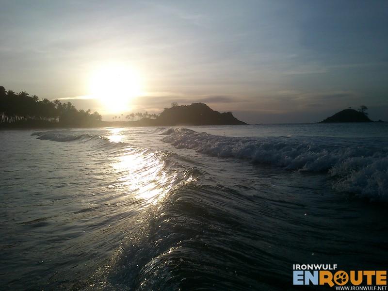 Enjoying the waves at Nacpan Beach