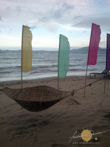 Inviting hammock at Ursula Beach