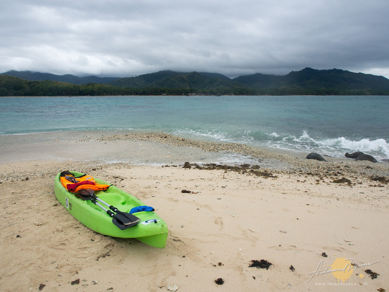 Launching ever reliable kayak back to the mainland