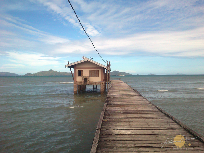 The Sibaltan Guard House in the afternoon high tide