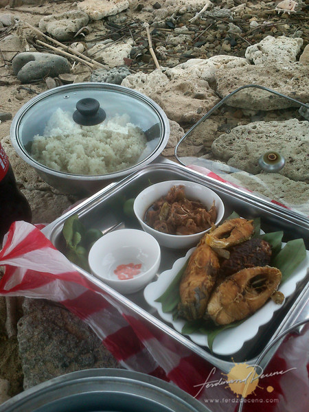 Our lunch on the island