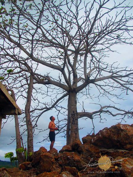 The author admiring the island's