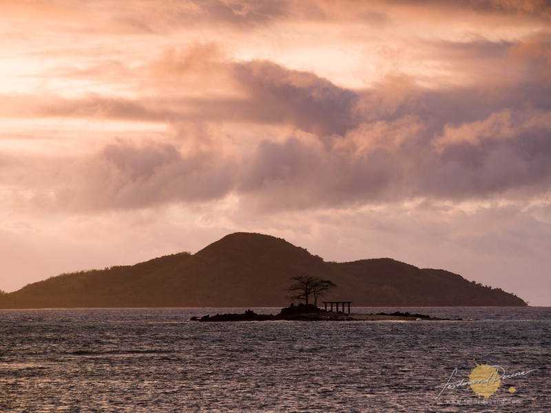 Bubog Island seen from the Sibaltan Guard House in the morning