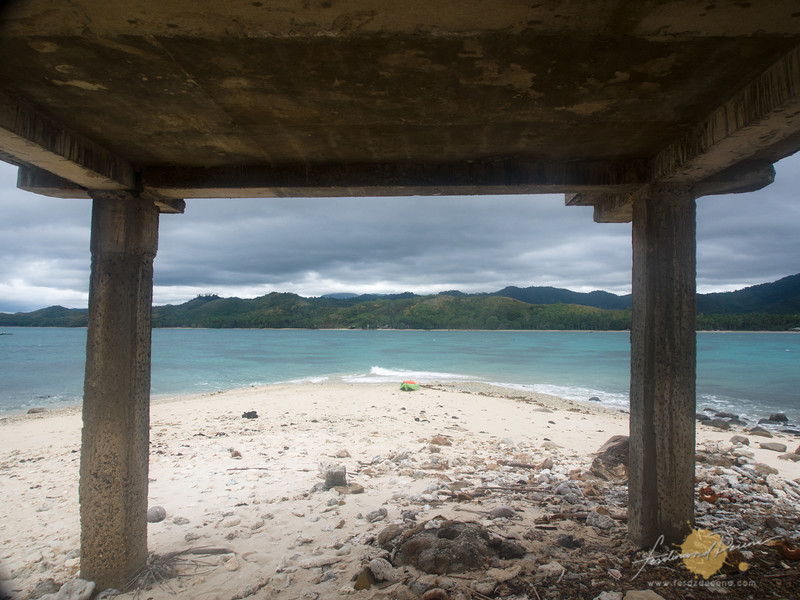 View from the island shelter