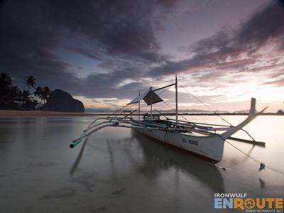 Las Cabanas Boat Sunset
