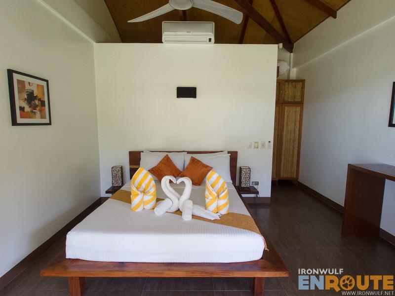 The bedroom at Cadlao Resort