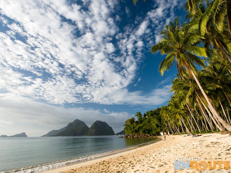 Beautiful white sand beach of Marimegmeg