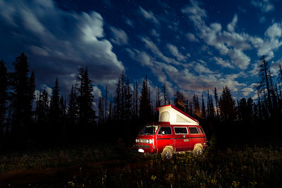 Camping in Our Westy at Lion Rock near Ellensburg, Washington