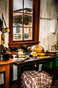 Kitchen in the Factor's house at Fort Nisqually