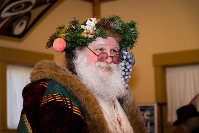 Father Christmas at the Fort Nisqually Christmas Celebration
