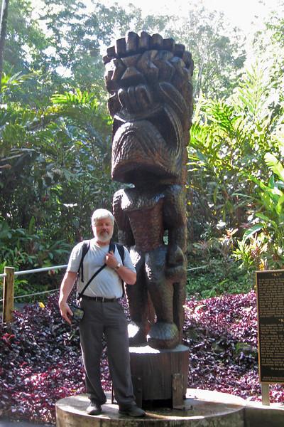 """Jim and """"Ku"""", Hawaii Tropical Botanical Garden, north of Hilo, HI"""