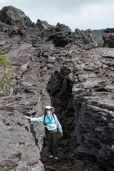 Hawaii Volcanoes Nat. Park: Kilauea Iki Trail, in crater.