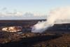 Hawai'i Volcanoes National Park: Jaggar Museum overlook. View of Halema'uma'u Crater, near the summit of Mt. Kīlauea.