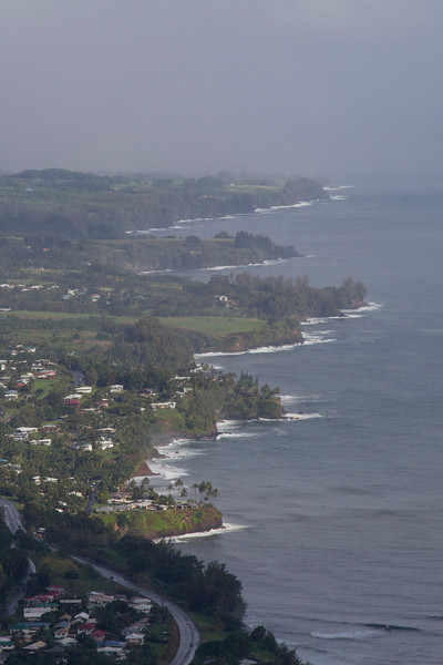 From helicopter: coast north of Hilo, HI