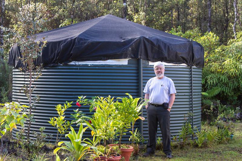 10,000 gallon fresh water tank at Michele Aiwohi's house.
