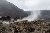 Hawaii Volcanoes Nat. Park: Kilauea Iki Trail, steam vents in crater.