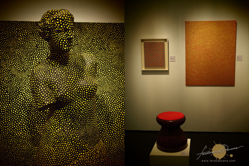 """Few of the art pieces on the """"I Love Kusama"""" exhibit"""