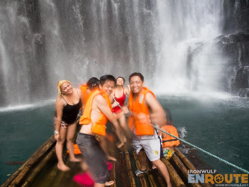 Fun at the raft, getting near the main falls