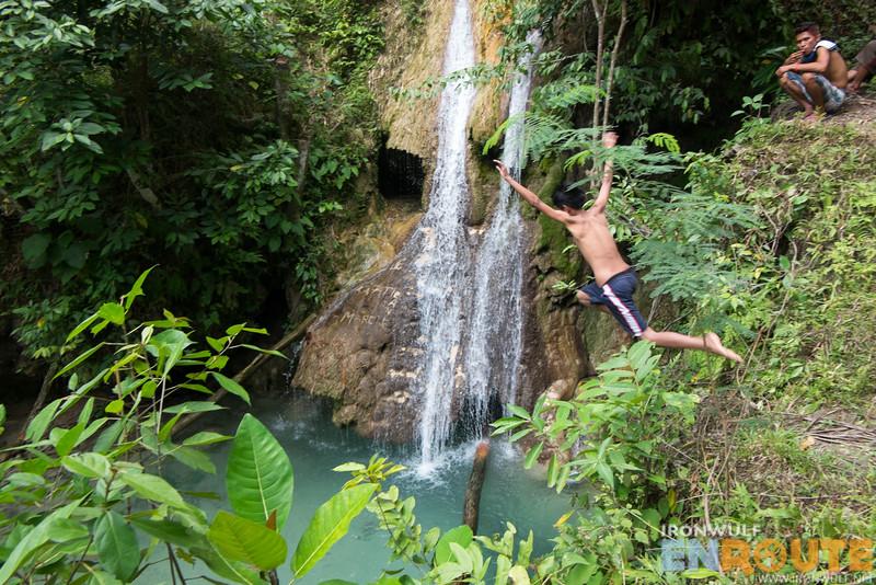 Pampam Falls jump