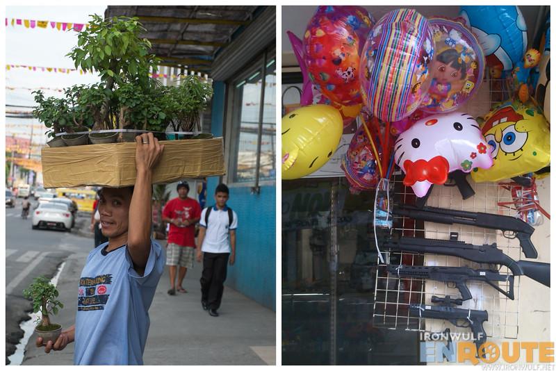 Street vendor and goods