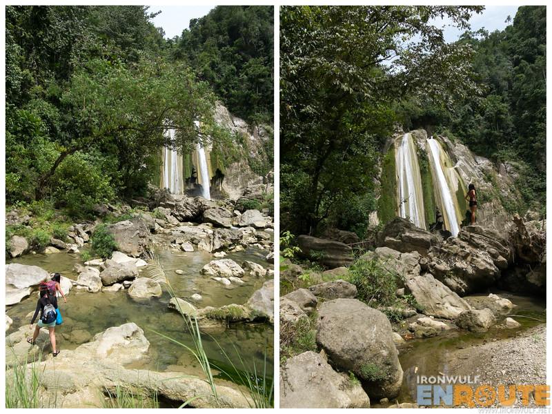 Dodiongan Falls from afar