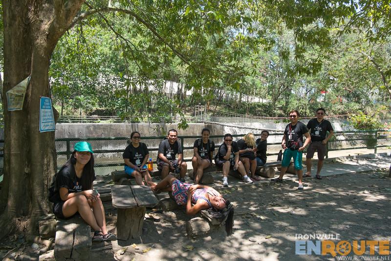 WAT 2.0 participants relaxing at the NPC park